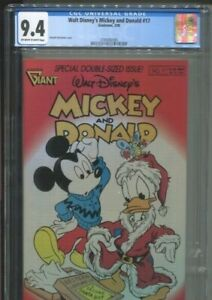 WALT DISNEY'S MICKEY AND DONALD 17 GIANT BARKS' RIDDLE OF THE RED HAT CGC NM 9.4