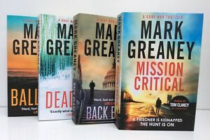 Mark Greaney, 4 book Gray Man Collection Set, Ballistic, Mission Critical, New
