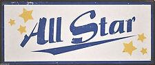 ALL STAR ! Metallschild, Stern-Schild, Schild von La Finesse, NEU, in used Optik