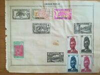 lot N°234 - 7 timbres Cameroun Français + 1 Canada à décoller