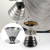 Stainless Steel Reusable Coffee Filter Holder Pour Over Mesh Dripper Cup re