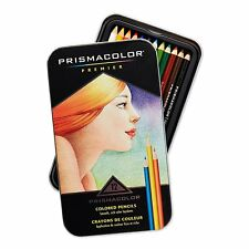 PRISMACOLOR PRISMA PREMIER PREMIUM COLOURED PENCILS 12 SET DAMAGED TIN