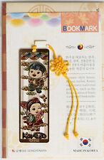Traditional Korean reader Metal Bookmark - Young kids01