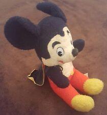 Vintage Mickey Mouse w/ Cape Stuffed Toy California Toys Walt Disney Super Hero