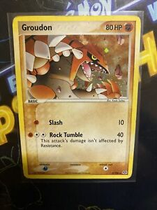 Pokemon EX Emerald Rare Holo Groudon #5/106 MP