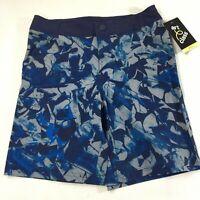 Art Class Swim Board Shorts Boys Size 8 Blue Splatter Waist Adjuster 4 Pockets