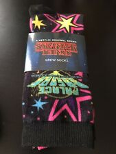 STRANGER THINGS Crew Socks 3 Pairs Palace Arcade Graphics Adult Unisex One size