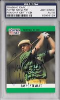 PAYNE STEWART Signed 1990 PROSET NFL Football Golf CARD #1 US OPEN PGA PSA/DNA