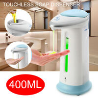 400ml Automatic Soap Liquid Dispenser IR Touchless Handsfree Bathroom Kitchen