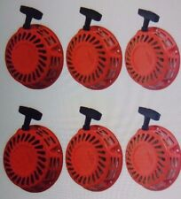 NEW 6 PACK OF PULL START RED RECOIL COVER 5.5HP & 6.5HP FITS HONDA GX160 & GX200
