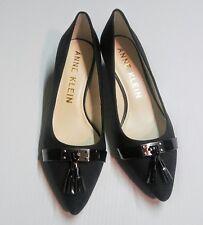 Ladies Shoes 8 M Anne Klein Akmandie Black Tassel Kitten Heels