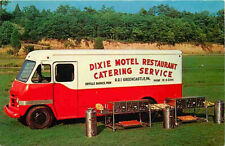 Postcard Dixie Motel Restaurant Catering Service Van, Greencastle, Pennsylvania