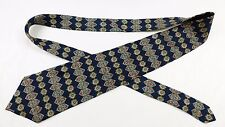 "Handsome Christian Dior Classic Navy Geometric 100% Silk 56"" Tie"
