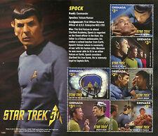 Grenada 2015 MNH Star Trek 50th Anniv 6v M/S Leonard Nimoy Spock Stamps