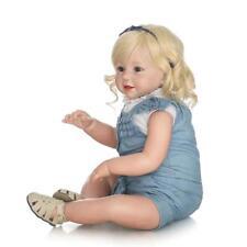 70CM Reborn Baby Puppe Lebensecht Weiches Vinylgeborenes Baby Geschenk Silik!