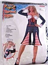 Size 14 Women's Red White Blue Sailor Cosplay Halloween Sexy Costume Party