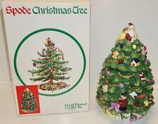 SPODE ENGLAND Christmas Tree Pattern~HAND PAINTED CHRISTMAS TREE COOKIE JAR