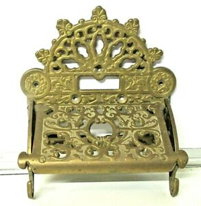 Victorian Style Vintage Brass Rococo French Toilet Roll Holder