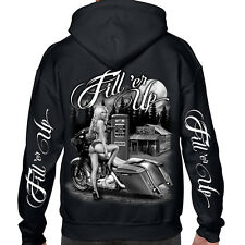 Biker Life USA Fill 'er Up Zipper Hoodie