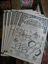 5 ANCIENS JOURNAUX LE JOURNAL DES BRODEUSES 1962 VINTAGE EMBROIDERY PATTERNS