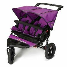 Out N About Nipper V4 Double Buggy Pushchair - Baby to 4 Years - Purple Punch