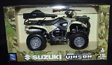 MIB NEWRAY SUZUKI VINSON 500 4X4 CAMO 1:12 SCALE DIE-CAST PLASTIC REPLICA