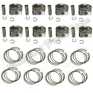 8X Engine Pistons Piston Rings Fit For Range Rover / Sport 5.0T 508PS 10-18
