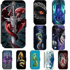 Dragon Mythical Fire Fantasy Flip Phone Case Wallet Cover For Samsung A10 A12 A5