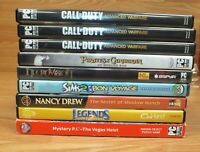 Mixed Random Lot of 9 PC Computer Games For Windows **READ**