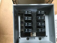 Sebco low voltage lighting distribution system 8 x 5 Amp 60 fuse protraction