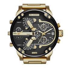 DIESEL Uhr DZ7333 MR. DADDY 2.0 Herrenuhr Chronograph Edelstahl Gold Datum NEU