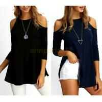 Women's Loose Long Sleeve T-Shirt Cotton Casual Blouse Shirt Tops Fashion Blouse