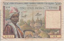 French Equatorial Africa P33-5122 500 Francs Alphabet G.4, F  We Combine