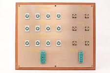 Custom Headphone/Video Patch Bay Panel 12x 4-Pin XLRF / 2x ELCO / 6x SO-239 #4