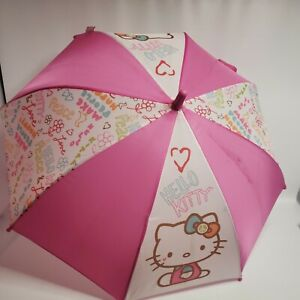 "Hello Kitty  Sanrio Starpoint Umbrella 24"" long"