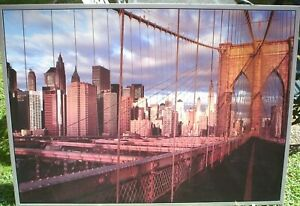 VERY LARGE IKEA PRINT OF NEW YORK 135 X  95 CM FRAMED READY TO HANG NO GLASS