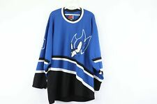 Vintage 90s Mens XL University of Duke Blue Devils Stitched Hockey Jersey Blue