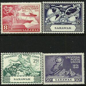 Sarawak 1949 UPU set MNH