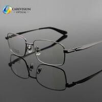 New Pure Titanium Spectacles Men Full Rim Optical Eyeglass Frame Eyewear Rx Able