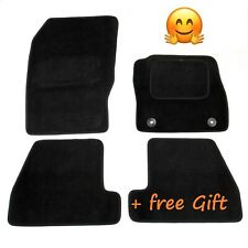 Quality Tailored to fit Black Car Floor Mats Carpets for Ford Focus Mk3 2013
