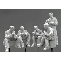 """1/35 """"Chow Time!"""" Resin Model Kit Unassambled Unpainted (5 figures)"""