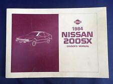 NISSAN 200SX 1984 Owner's Manual Model S12 Series No. OM4E-0S12U0 Original