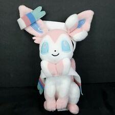 """Tomy Pokemon Fairy Eevee Evloution Pink White Sylveon Plush Stuffed Animal 10"""""""