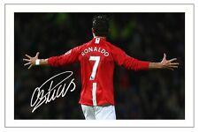 Cristiano Ronaldo Manchester United firmó autógrafos Foto De Fútbol