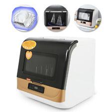 5-Liter Compact Portable Countertop Dishwasher 360° Streak-Free Deep Cleaning