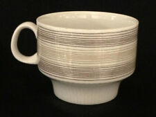 ARZBERG  COFFEE CUP HORIZONTAL BROWN GOLD LINES 49 HUTSCHENREUTHER