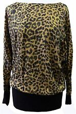 Womens Curve Printed Love City Skull Animal Printed Batwing Tops 16-34