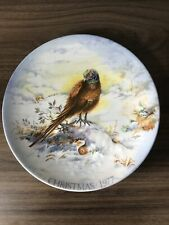 Crown Staffordshire Cock O The North Collectible Plate Christmas 1977