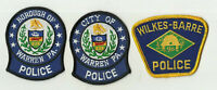 Warren (2) / Wilkes - Barre (PENNSYLVANIA) Police Patches