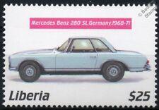 1968-1971 MERCEDES BENZ 280SL (W113) Mint Automobile Car Stamp (2001 Liberia)